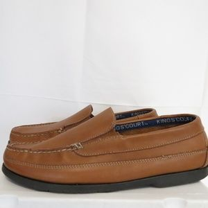 Kings Court Men's 12EW Loafers Brown Leather